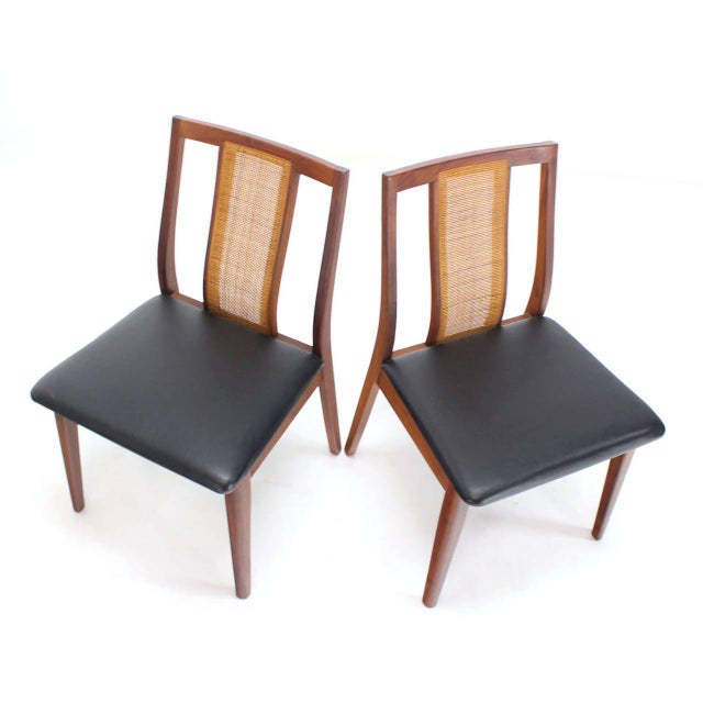 Brown Set of Four Danish Mid-Century Modern Oiled Walnut Side Dining Chairs For Sale - Image 8 of 9