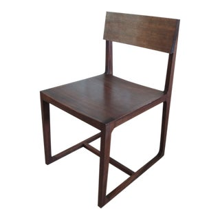 Contemporary Brazilian Hardwood Desk Side Chair