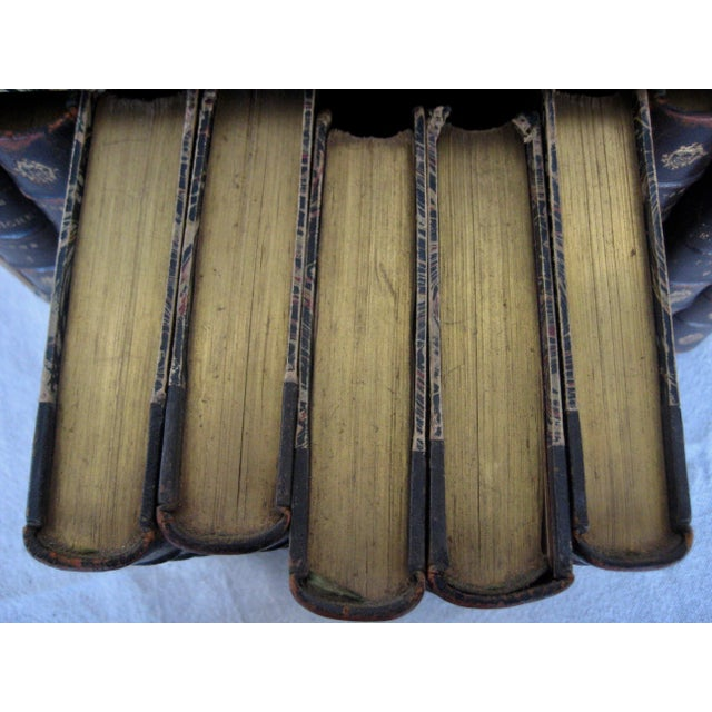 Late 19th Century French Leather Books - Set of 10 For Sale - Image 11 of 12