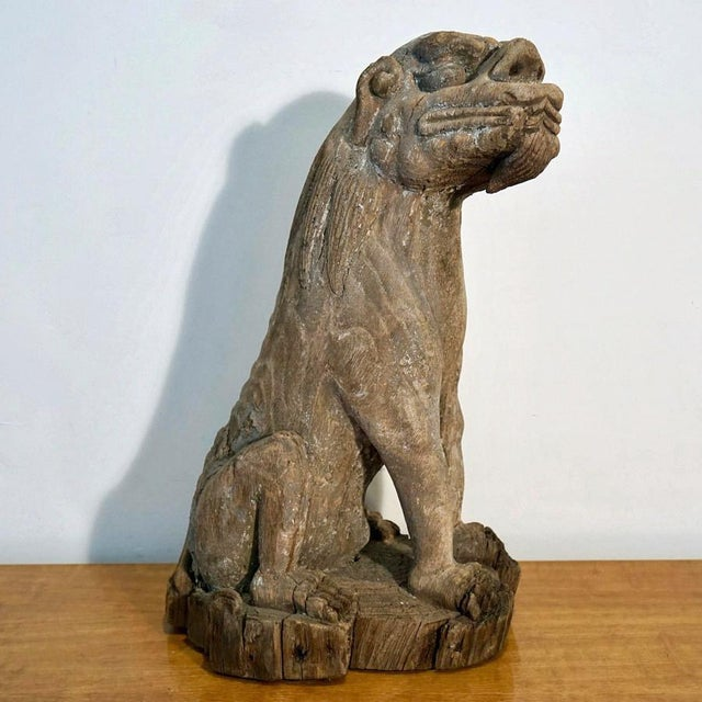 18th Century Foo Dog Monumental Hand Carved late 18th Century Foo Dog. Extraordinary Piece of Decorative Art. Artist Unknown