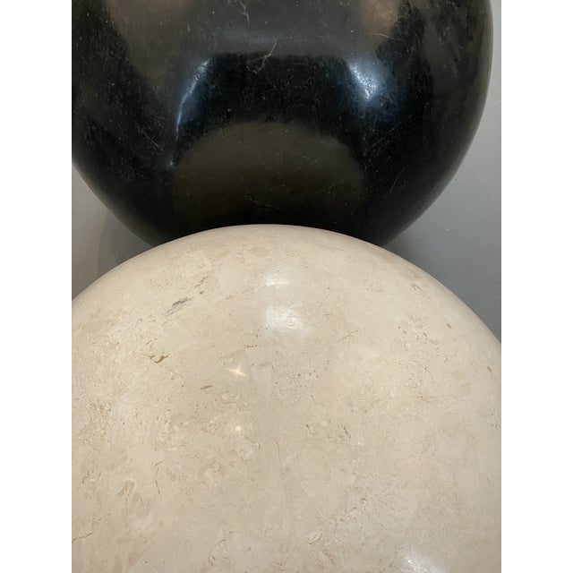 Marble Sphere Black X X L For Sale - Image 4 of 5