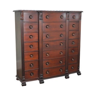 Polo Ralph Lauren Mahogany Multi Drawer Empire Style Gentlemans Chest