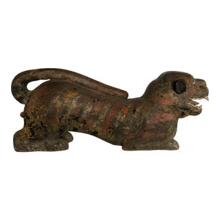 Late 18th Century Javan Guardian Tiger Statue For Sale