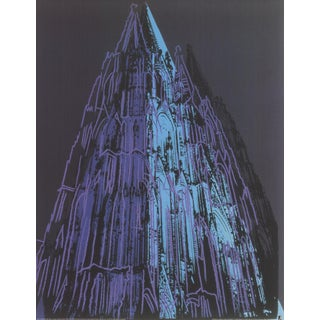 Andy Warhol, Koln Cathedral Blue, Offset Lithograph For Sale