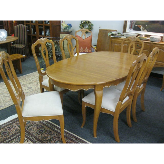 Ethan Allen French Country Dining Set - Image 4 of 8