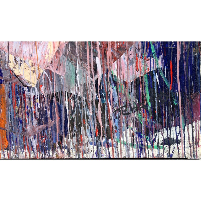 Abstract Monumental Abstract Oil on Canvas Signed Dehais For Sale - Image 3 of 10