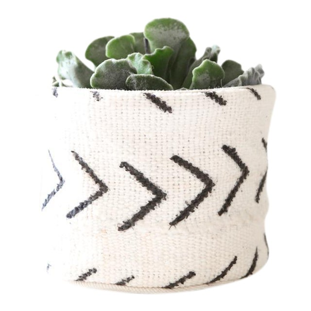 A handwoven, one-of-a-kind, Authentic African Textile Mud cloth Planter. Works well in all decors, including Rustic,...