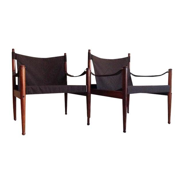 Erik Worts Rosewood Safari Sling Chair - Pair - Image 1 of 10