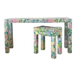 Floral Parsons Console & Bench