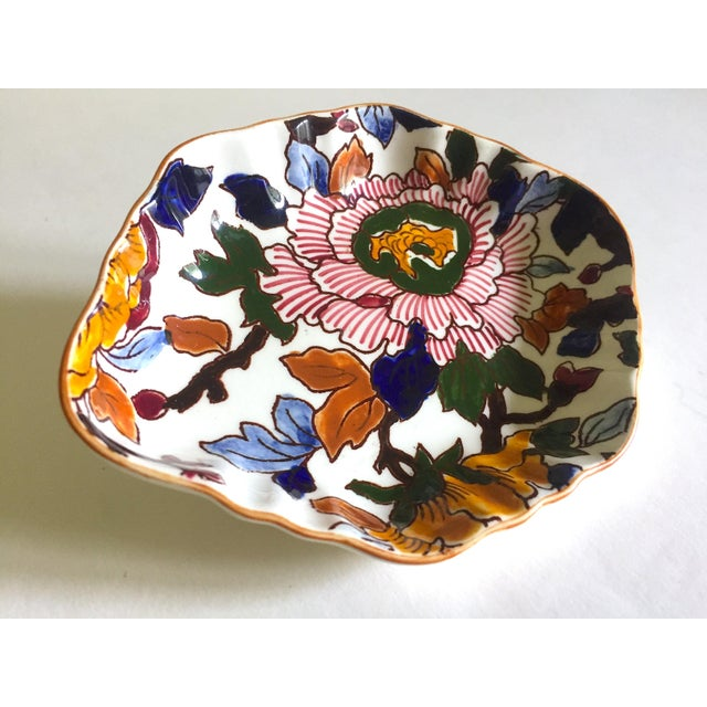 This Gien France rare vintage 1985 faience ruffle edge small hand painted floral ceramic dish is a very special and unique...