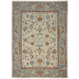 Contemporary Turkish Oushak Rug - 12′4″ × 17′ For Sale