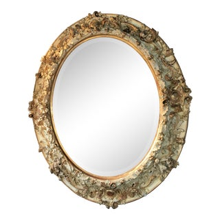 1880 French Wood Mirror