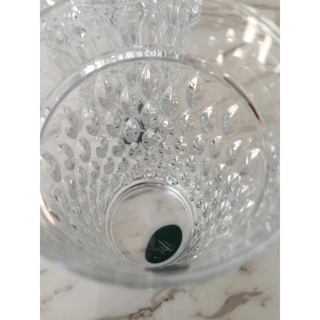 Crystal Ralph Lauren Aston Highball Crystal Glasses - Set of 4 For Sale - Image 7 of 7