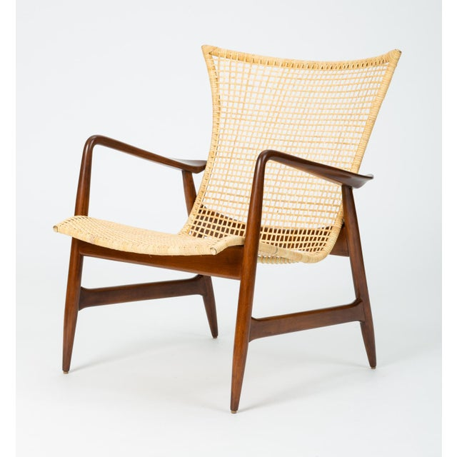 Lounge Chair With Cane Seat by Ib Kofod-Larsen for Selig For Sale - Image 13 of 13