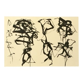 Vintage Brice Marden Exhibition Announcement Print For Sale