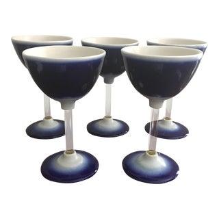 Blue & White Goblets - Set of 5
