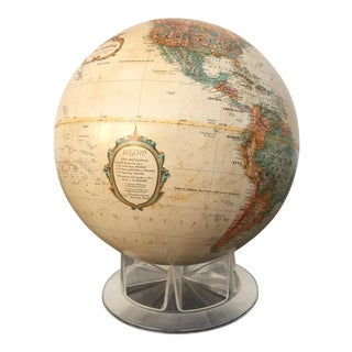 Replogle Sepia Globe on Plastic Stand