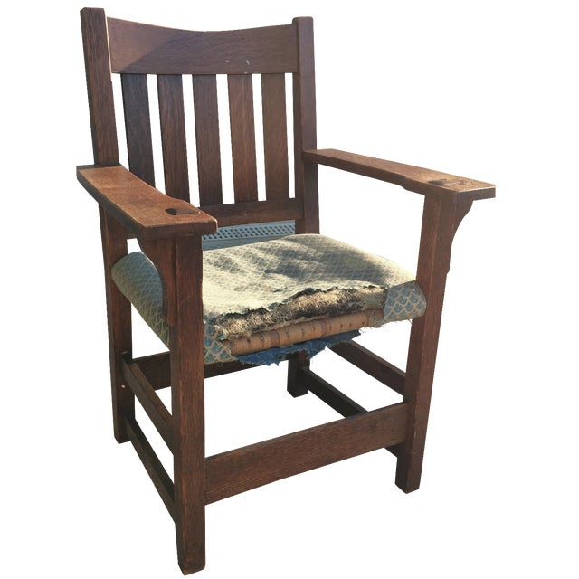 Early 19th-C. Gustav Stickley Armchair - Image 1 of 11