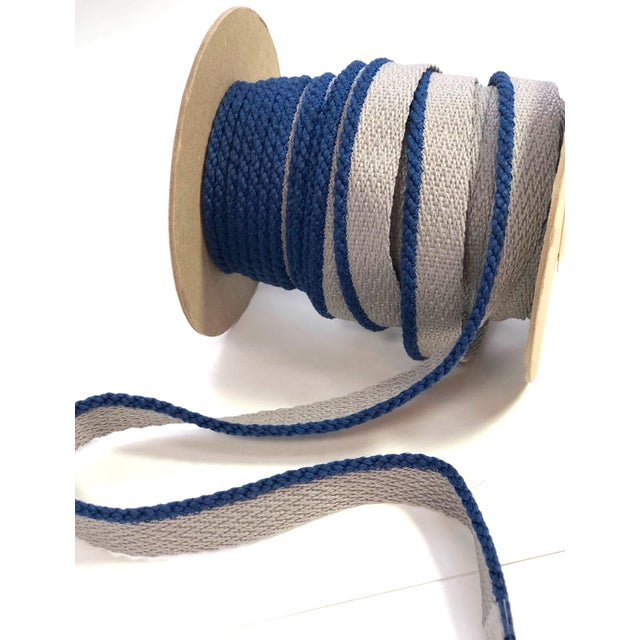 """2010s Cabled 1/8"""" Indoor/Outdoor Blue Cord Trim For Sale - Image 5 of 9"""