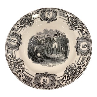 Boch Freres La Louviere Napoleanic Wars Commemorative Plate For Sale