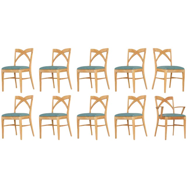 Paul Frankl Dining Chairs for Brown Saltman, Set of Ten - Image 1 of 9