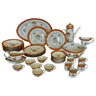 Armorial Service of Samson Chinese Export Porcelain for the American Market For Sale