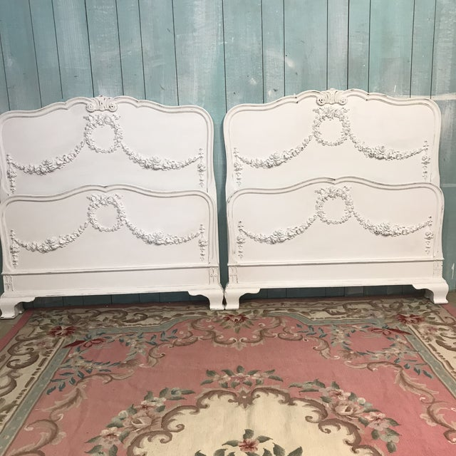 Vintage Shabby Chic Twin Bed Frames