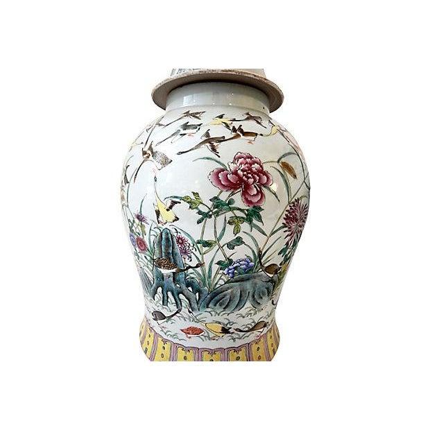 Famille Rose Ginger W/ Ducks Jars, S/2 For Sale - Image 5 of 7