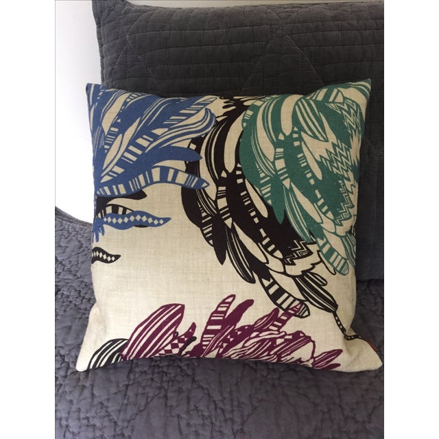 Tan Missoni Home Designer Mezewele Throw Pillow For Sale - Image 8 of 11