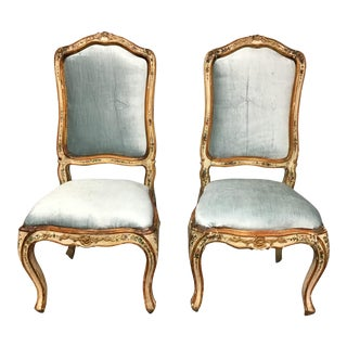 Venetian Painted Chairs - a Pair For Sale