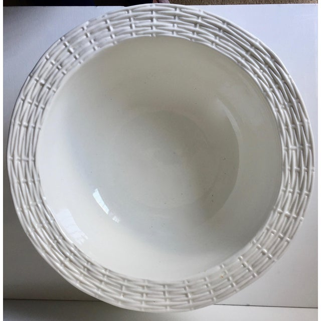 Neuwirth Italian Ceramic Basketweave Serving Bowl For Sale - Image 10 of 10