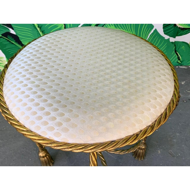 Stupendous Gold Gilt Rope And Tassel Swivel Vanity Stool Andrewgaddart Wooden Chair Designs For Living Room Andrewgaddartcom