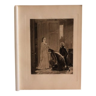 """Antique Photogravure on Paper, """"Victoria Greeted as Queen"""" by h.t. Wells Selmar Hess Publishers 1894 For Sale"""