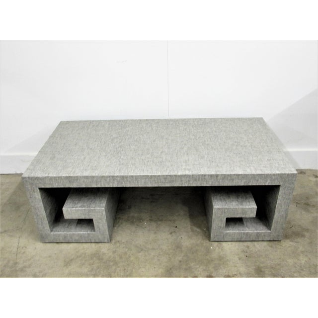 Jansen Manner Handcrafted High End Coffee Table with Greek Key Base For Sale In Raleigh - Image 6 of 10