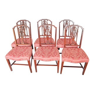 1970s Hickory Co. Mt Vernon Mahogany Dining Chairs - Set of 6 For Sale