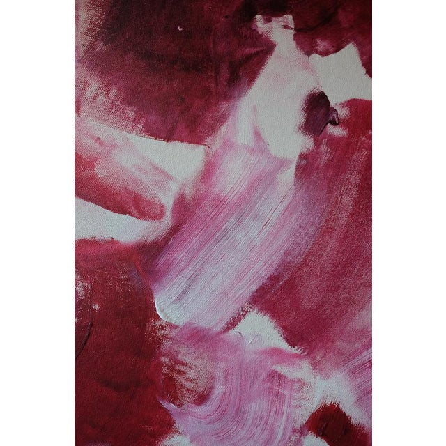 """""""Red"""" Acrylic & Enamel Painting on Canvas For Sale - Image 5 of 7"""