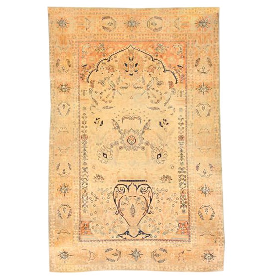 Antique 19th Century Persian Mohtasham Kashan Rug For Sale