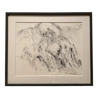 1950s Vintage Kenneth Callahan Ink on Paper Painting For Sale