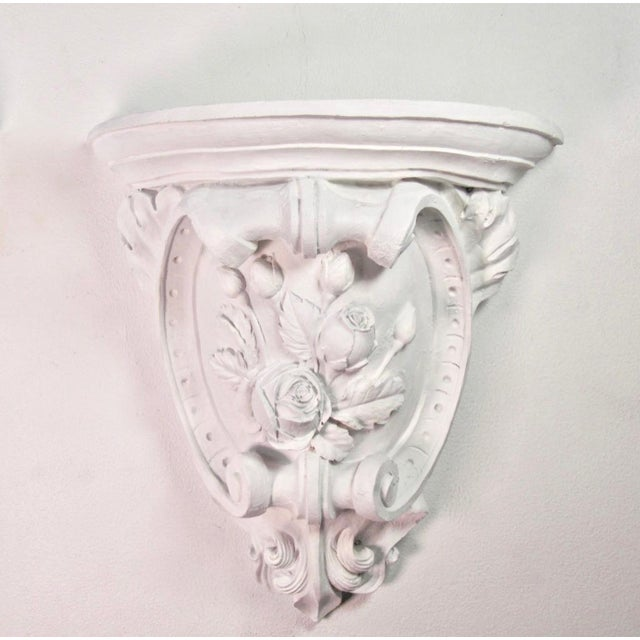 Antique French Plaster Wall Shelves - a Pair For Sale - Image 4 of 9