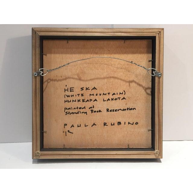 "Paula Rubino Rubino Framed Oil Painting ""He Ska"", Contemporary Portrait For Sale - Image 4 of 7"