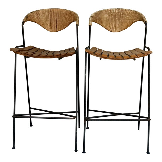 Arthur Umanoff Bar Stools - A Pair - Image 1 of 6