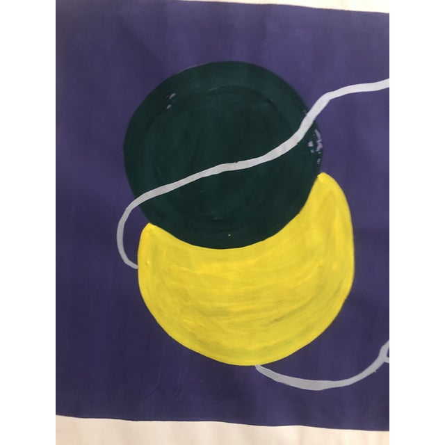 Mid-Century Modern 1950s Vintage Mid-Century Modern Yarn Still Life Painting For Sale - Image 3 of 4