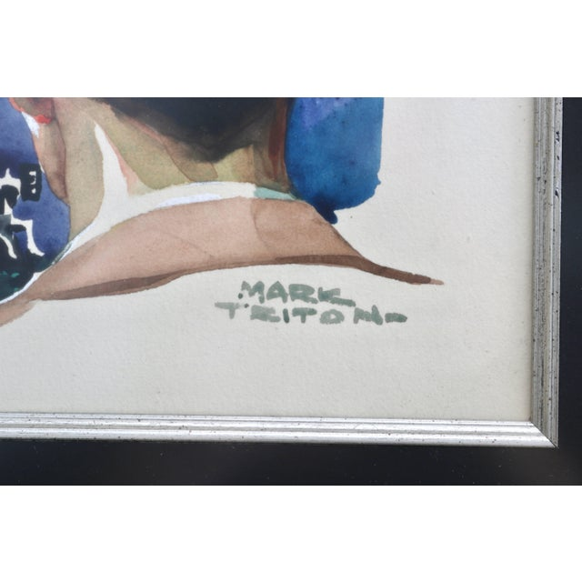 """Watercolor of a Boxing Match Titled """"Ringside"""" For Sale - Image 4 of 8"""