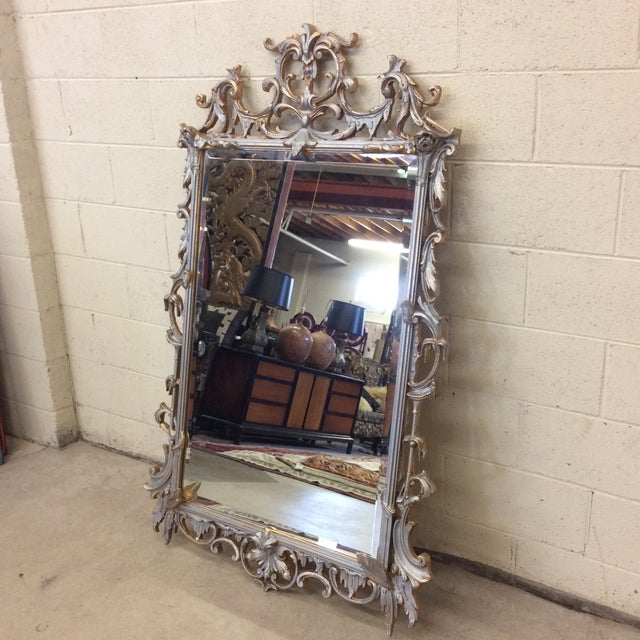 Mirror, mirror on the wall. Who's the fairest of them all? Why this beautiful wood carved mirror in a gold and mostly...