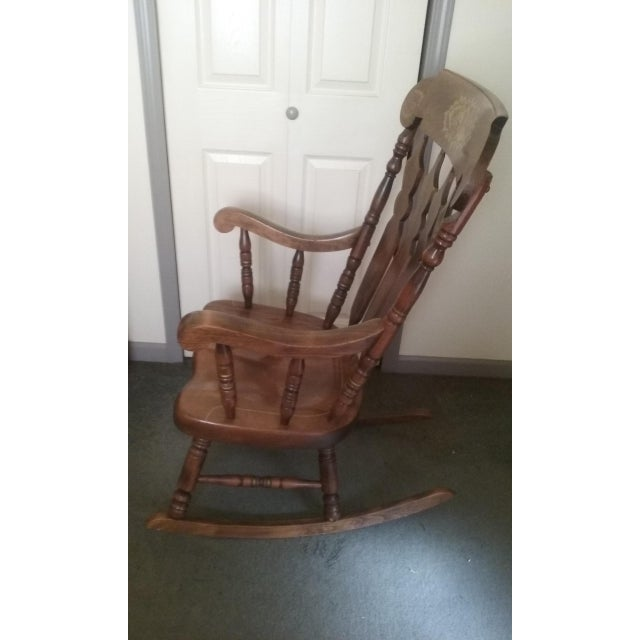Mid-Century Modern Mid 19th Century Vintage Yugoslavian Rocking Chair For Sale - Image 3 of 11