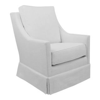 White Custom Swivel Chair For Sale