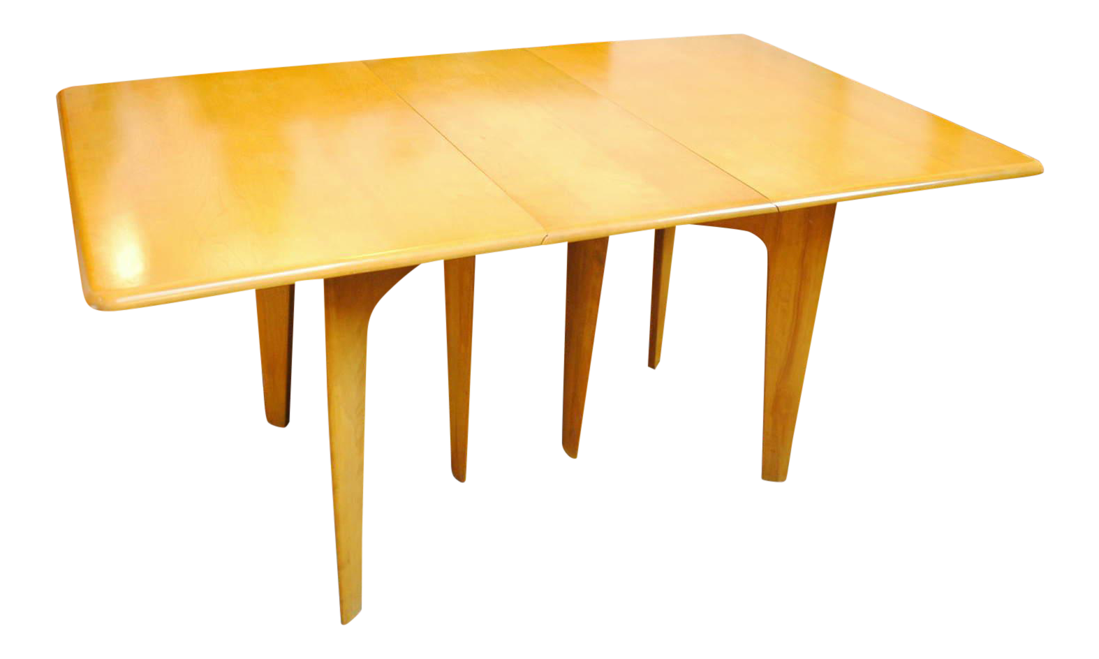 Incroyable Mid Century Heywood Wakefield Gate Leg/Drop Leaf Dining Table