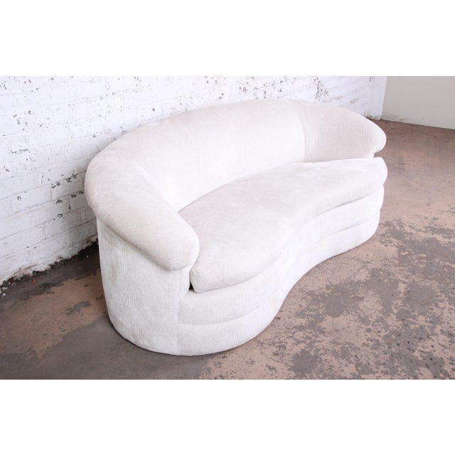 1970s Mid-Century Kidney-Shaped Sofa For Sale - Image 5 of 9
