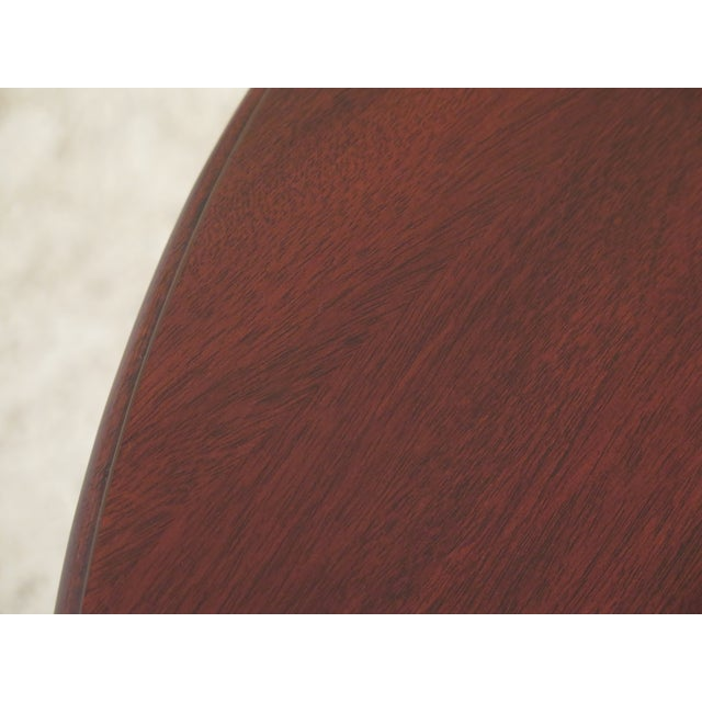 1990s 1990s Vintage Henkel Harris Mahogany Pembroke End Tables- A Pair For Sale - Image 5 of 12