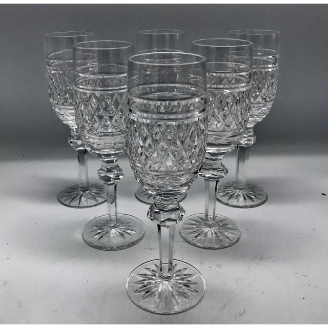Edwardian Waterford in Rare Archive Castletown Pattern Crystal Glasses - 18 Pieces For Sale - Image 3 of 11